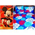 Cotton Bedsheet And Disney Towel LE-CTC-001 and LE-TWD-001, multicolor