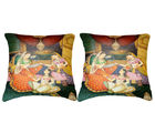 Belkado Digital Print-Pair of Indian Princess Cushion Covers, multicolor