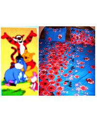 Cotton Bedsheet And Disney Towel LE-CTC-004 and LE-TWD-006, multicolor