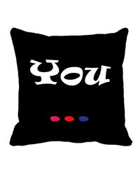 meSleep You Valentine Cushion Cover,  black