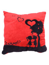 Gallibazaar Red And Black Pillow, Red And Black