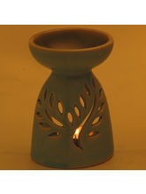 Light Green Ceramic Two In One Oil Burner And Tea Light Holder