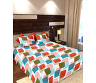 Story At Home Pure Cotton Double Bedsheet With 2 Pillow Cover, white
