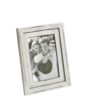 Aapno Rajasthan Light Grey Rustic Finish Wooden Photo Frame