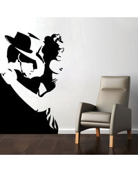 Creative Width Intense Dance Wall Decal, multicolor, large