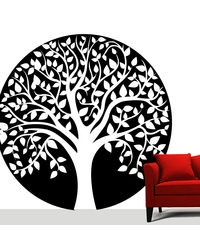 Creative Width Speaking Tree Wall Decal, multicolor, small