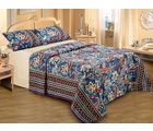Belkado 100% Cotton Printed Double Bedsheet, multicolor