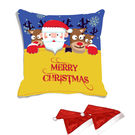 meSleep Merry Christmas Digitally Printed Cushion Cover (16x16) - With 2 Pcs, multicolor