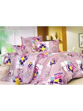 Welhouse India Small Dot Print Double Bed Sheet Wi...