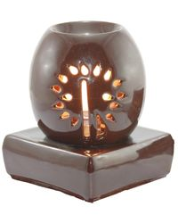 Brahmz Aroma Oil Burner Electric Oval, chocolate