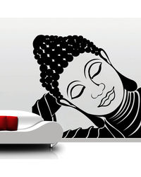 Creative Width Resting Buddha Wall Decal, multicolor, small