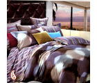 A Bold Sashes And Houndstooth Motif Pure Cotton Bed Sheet Set BS139120, multicolor