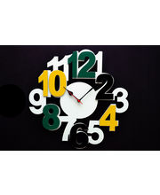 Panache Designer Wall Clock Big Number Clock White&Yellow, multicolor