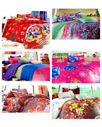 Crimson Bliss - Pack of 6 bedsheets, multicolor