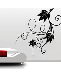 Creative Width Leafy Curls Wall Decal, multicolor, small
