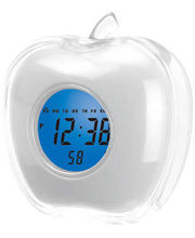 White Desktop Apple Digital Talking Alarm Clock (White)
