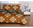 Welhome Basic Brown Double Bed sheet