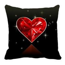 meSleep Red Valentine Cushion Cover,  red