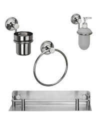 Jwell Stainless Steel Wash Basin Combo 1 - Sigma Series, multicolor