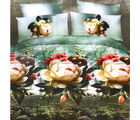 Aapno Rajasthan Beautiful Polyester Double Bedsheet with Huge Floral Print, green
