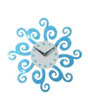 Aqua Blue Spaakre Chakra Wall Clock, multicolor
