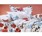 Valtellina Heart Shape Floral Print Double Bed Sheet, gray