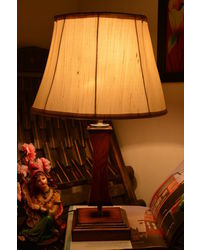 Yashasvi Drum Mild Cream Table Lamp,  orange