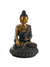 Charming Gold Finish Buddha Idol Showpiece, Gold