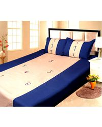 Lullabies Number and Counting Emroidery bedsheet for kids LLB16, multicolor