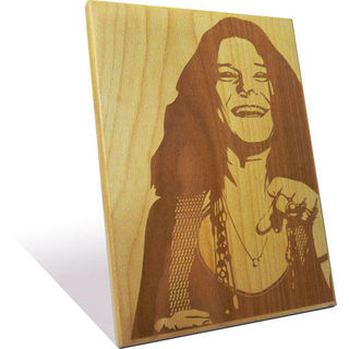 Engrave Janis Joplin Plaque (Multicolor)