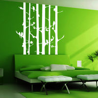 Creative Width Birds On Tree Wall Decal, multicolor, large