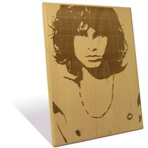 Engrave Jim Morrison Plaque, multicolor
