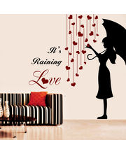 Creative Width Its Raining Love Wall Decal, Multicolor, Large