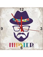 Height Of Designs Hipster Clock, multicolor