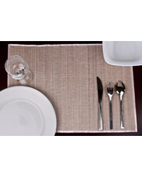 Rope Premium Talipot Table Mats - Pink - Set Of Six, pink