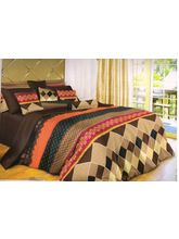 Welhouse India Cotton Abstract Design Double BedSh...