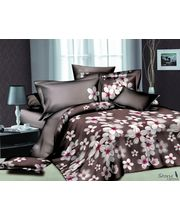Story King Size White Flower Double Bed sheet IM1029, multicolor
