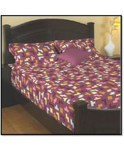 Godrej Interio Radical Neutrality Double Bedsheet - Tetris P, Multicolor
