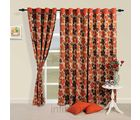 Floral waterfall curtain (Multicolor, Curtain(54 inch x 60 inch))
