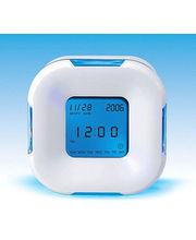 Imported LCD Four Sided Magic Clock (White)