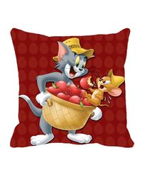 Warner Brother Tom & Jerry Cushion Cover 16 x 16 inch,  red