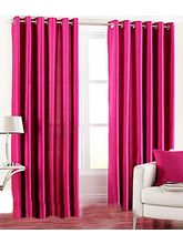 La Elite Eyelet Plain Door Curtain - 1 Pc, Dark Pi...