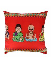 The Elephant Company Cushion Cover Nodding Doll,  red