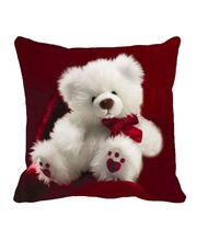 Me Sleep Teddy Valentine Cushion Cover, red