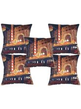 Me Sleep Set Of 5 Digital Cushion Cover With Wonderful Chicago City (Multicolor)