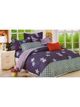 Valtellina Stars In The Blue Double Bed Sheet With...