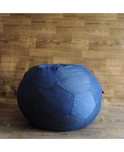 Style Homez Denim Football Bean Bag Cover, Blue, Xxl