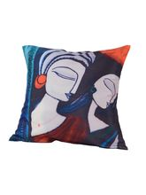 Me Sleep Red Girls Side Cushion Covers Digitally Printed - Set Of 2, Multicolor