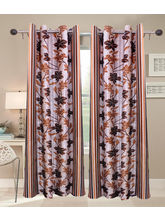 La Elite Beautiful Long Door Curtain - 1 Pc, Brown...