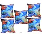 Me Sleep Cushion Covers Painted Woman In Heaven Set Of 5 (Multicolor)